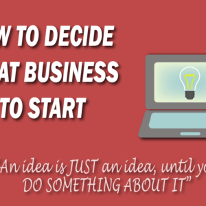 How to decide what business to start. A picture of a laptop with a light-bulb on the screen.