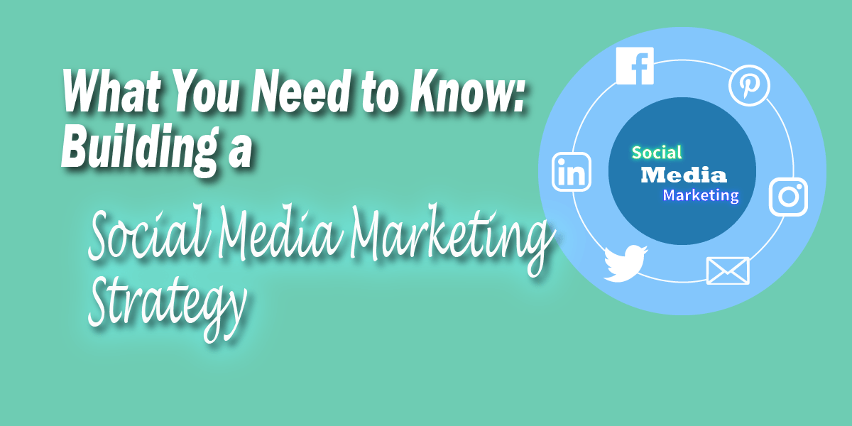 "What you need to know about building a social media marketing strategy. Social media icons circled around the text ""social media marketing"""