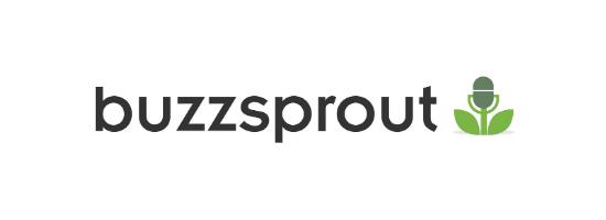Buzzsprout Logo on a plain white background