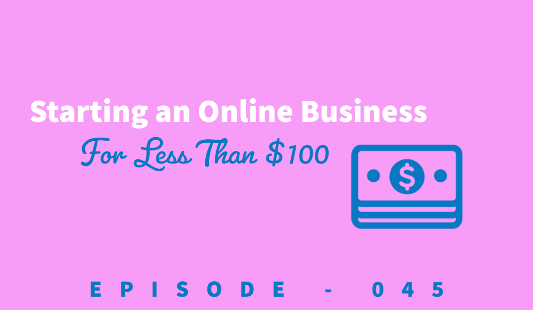 Episode 45: Starting an Online Business for Less than $100